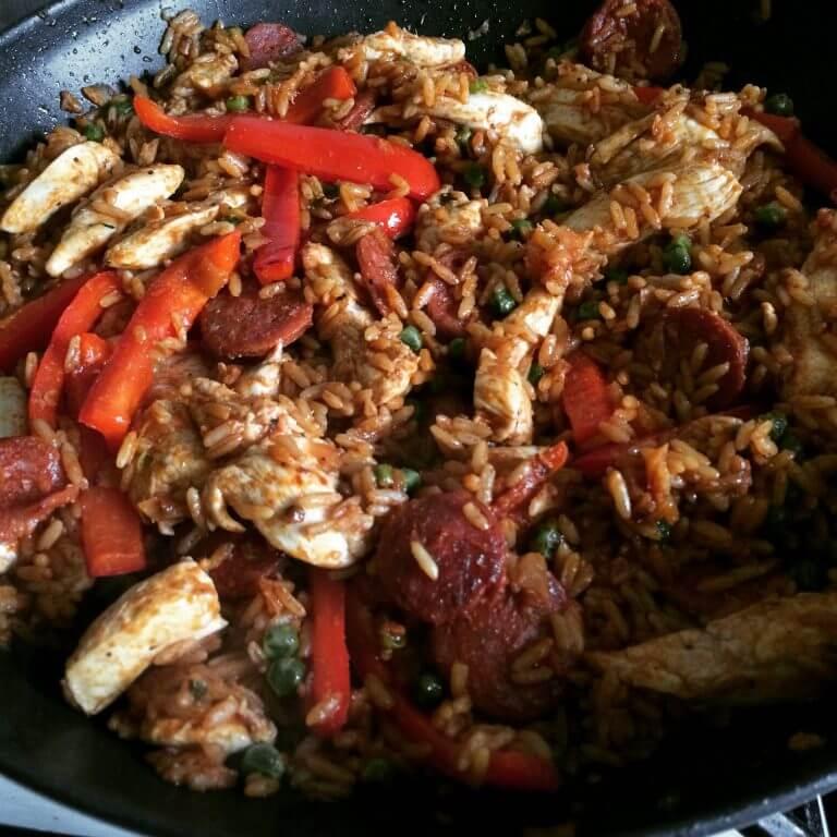 Chicken and chorizo jambalaya   Recipes