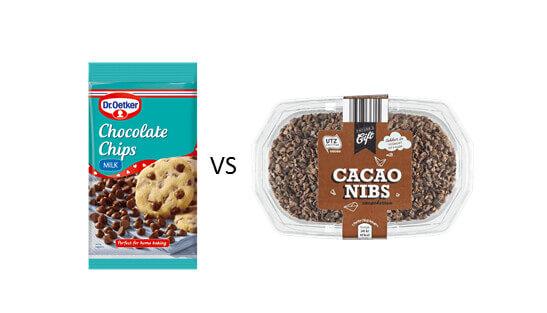Milk chocolate nutrition vs cacao nutrition