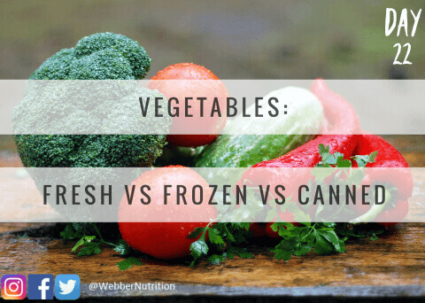 fresh vs frozen vs canned vegetables