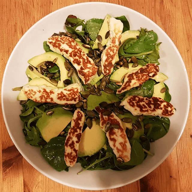Halloumi and Avocado Lime Salad