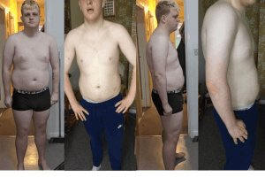 12 week body evolution as a result of healthy diet