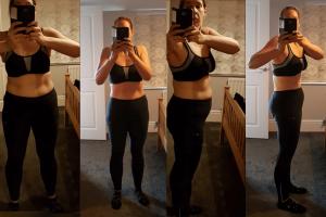 AL - 12 week plan fat loss transformation pics