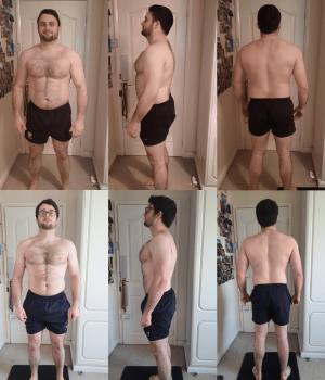 rugby player fat loss transformation